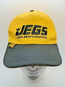 Jegs Performance Parts Blackyellow Embroidered Logo Strapback Adjustable Hat