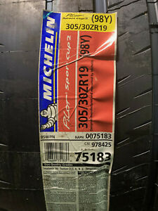 2 New 305 30 19 Michelin Pilot Sport Cup 2 Tires