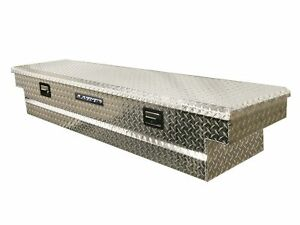 Lund 9300t 63 Inch Aluminum Mid Size Cross Bed Truck Tool Box With Full Lid