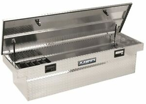 Lund 9304 63 Inch Mid Size Aluminum Cross Bed Truck Tool Box With Low Profile