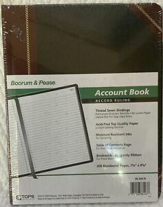 Boorum Pease Account Record Ruling Book 300 Pages 38 300 r black And Red