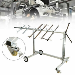 Automotive Spray Painting Rack Stand Auto Body Shop Paint Booth Hood Holder Tool