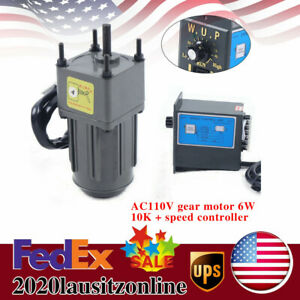 Ac Gear Motor Electric W variable Speed Reduction Controller 135rpm Ac110v Us