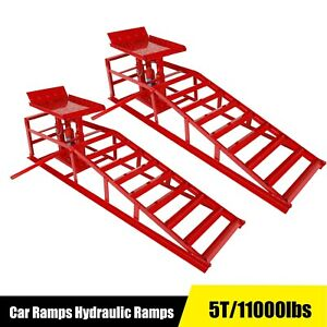 2pc Auto Home Car Service Duty Heavy Lifts Ramps Repair Hydraulic Lift Frame