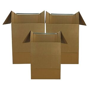 Uboxes Large Corrugated Wardrobe Moving Boxes 24 X 24 X 40 3 count Fast Ship