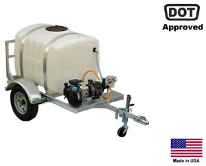 Sprayer Commercial Trailer Mounted 7 Gpm 200 Gallon Tank Highway Ready