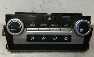 2013 Toyota Camry Le Oem Heater A C Control Panel Climate Temp 55900 06350 12 14