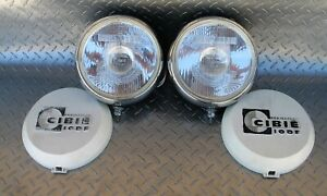 Pair Of Vintage Cibie Super Oscar H1 55w Driving Lights W Covers