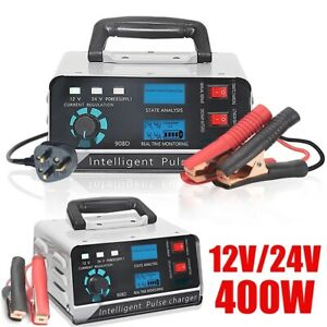 400w Heavy Duty Smart Car Battery Charger Automatic Pulse Repair Trickle 12v