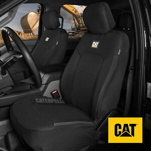 Truck Seat Covers For Front Seats Set Caterpillar Black Automotive Seat Covers