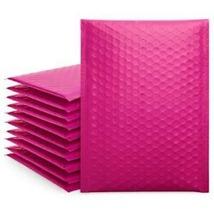 Fuxury Small Pink Bubble Mailers 6x10 Self seal Shipping Bags 50 Pack Poly