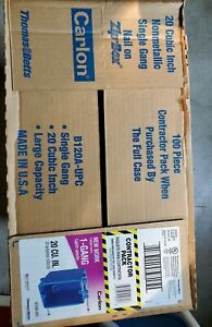 100 Carlon 1 gang 20 Cu In New Work Pvc Electrical Outlet Boxes Full Case