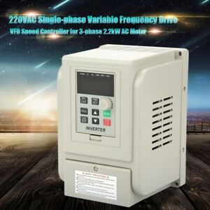 2 2kw Vfd Variable Frequency Drive Single Phase To 3 Phase 3hp 220v Ac Motor Us