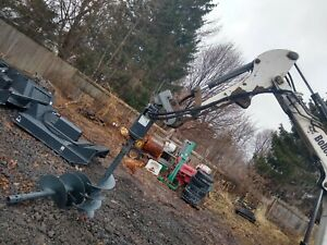 New Bobcat X Change Quick Attach Hydraulic Auger Post Hole Digger 12 16 Bits