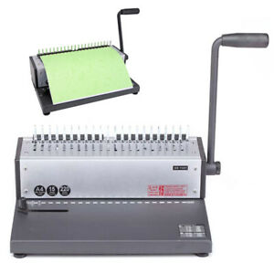 A4 Paper Punch Binder Punching Machine Binding Spiral Coil Book Puncher Durable