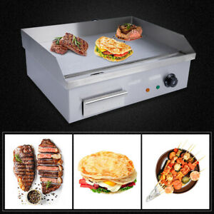 3000w Electric Countertop Griddle Grill Plate Commercial Flat Top Non stick Bbq