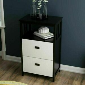 New 2 Drawer Stand Up Lateral File Cabinet With Open Compartment Storage Space