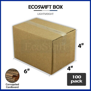 100 6x4x4 Cardboard Paper Boxes Mailing Packing Shipping Box Corrugated Carton