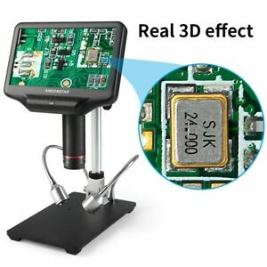 Electronic Digital Microscope 1000x 7 In Lcd Soldering Continuous Amplification