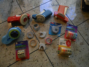 Huge Lot Vintage Label Makers Tape Dymo Rotex Astro Label Buddy