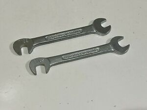 Gedore 2pc Double End Ignition midget Wrench Set Sae 9 32 7 32 Germany