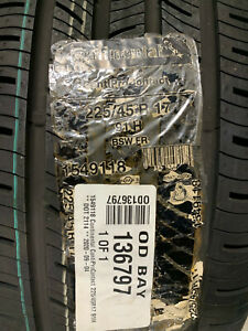 4 New 225 45 17 Continental Conti Pro Contact 118 Tires