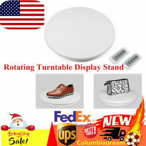 Electric Turntable Plate Turn Table 360 Display Table Remote Control 60cm 110v