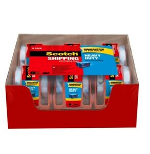 New Scotch Heavy Duty Shipping Packaging Tape Dispensers 6 Pack