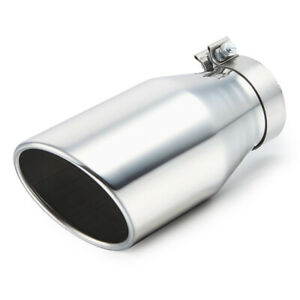 4 Inlet Clamp On Diesel Exhaust Tip 6 Outlet 12 Long Polished Stainless Steel