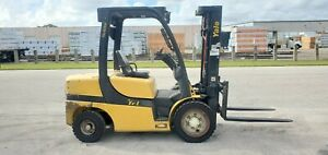Yale Forklift 7000 Lbs Diesel Gdp070vx Pneumatic Tires