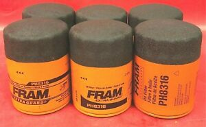 Case Of 6 Engine Oil Filter Fram Ph8316 For Mazda Jeep Ford Mercury