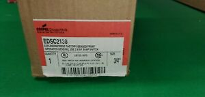 Crouse Hinds Edsc2130 Explosion Proof 20 Amp 3 Way Snap Switch