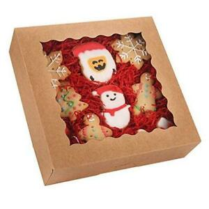 pack Pie Boxes With Window 9 X 9 X 2 5 Auto popup Brown Cookie Boxes 20