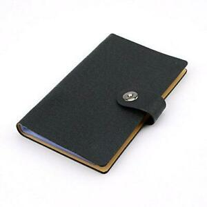 Business Card Holder Book Pu Leather 300 Name Cards Organize black