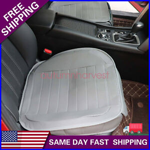 Car Seat Cover Cushion Gray 2 Pack Pu Leather Universal Fit For Front Seats