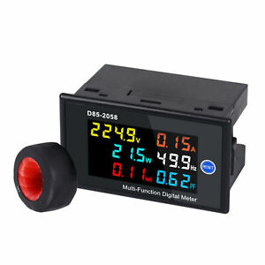 Ac40 300v Single Phase Digital Meter Power Frequency Electric Energy Tester L3a3