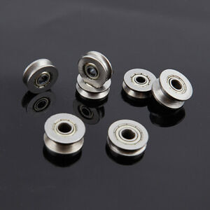 5pcs V U Groove Roller Wheel Ball Bearings Embroidery Machine Pulley Bearing Sc