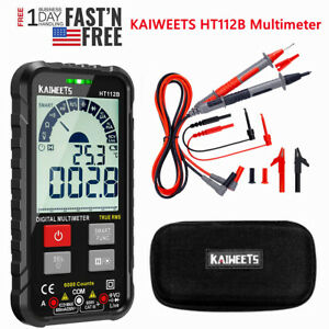 Kaiweets Ac dc Digital Multimeter Trms 6000 Counts With Crocodile Clip Test Lead