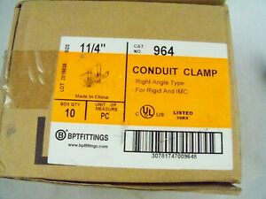 10 Bridgeport 964 1 1 4 Conduit Clamp Right Angle Malleable
