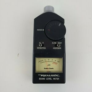 Vintage Realistic Sound Level Meter 33 2050 Good Working Condition