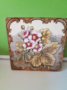 Victorian Tile Floral Design 6in By 6in