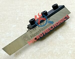 Lathe Clamp Type Parting Cut Off Tool Holder 10mm Shank With 1 2 Hss Blade Usa