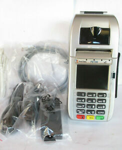 First Data Fd130 Pos Credit Card Terminal Swipe Chip Reader W New Accessories