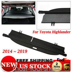Trunk Cargo Cover Security Trunk Shade Shield For Toyota Highlander 2014 2019