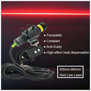 Focusable 660nm 100mw Red Laser Line Module for Stone wood Cut Locating 12v