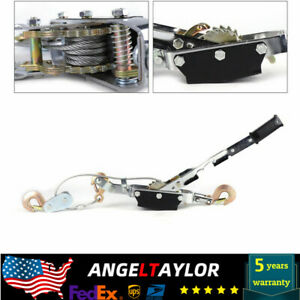 5 Ton Hand Puller Heavy duty Winch Pull Hoist Come Along Cable 3 Hooks Us Stock