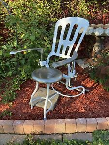 Antique Industrial Art Deco 20 S 30 S Medical Dental Adjustable Chair Tattoo
