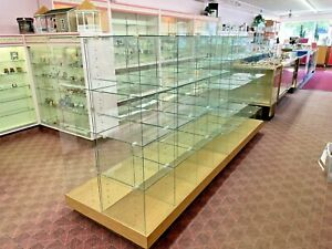 Lot Of 2 Retail Store Glass Cubicle Showcase Display Cases Pickup Only