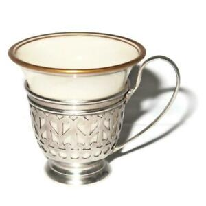 Gorham Sterling Silver Liner A5549 W Lenox China Demitasse Cup