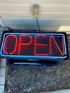 Underwriters Laboratories Large Led Neon Electric Open Sign W On And Off Switch